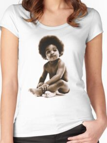 -MUSIC- Notorious Big Baby's Cover Women's Fitted Scoop T-Shirt