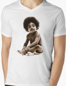 -MUSIC- Notorious Big Baby's Cover Mens V-Neck T-Shirt