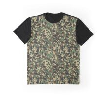 Classic Green Brown Army Camo Camouflage Graphic T-Shirt