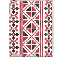 Embroidery red and black cross-stitch pattern iPad Case/Skin