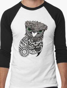 Mandala Owl Men's Baseball ¾ T-Shirt
