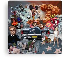 The American Dream (how i learned to love the bomb, burger and bullet) Canvas Print
