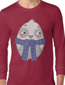 Wizard Owl - Blue Long Sleeve T-Shirt