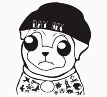Pug Life (Black and White) Kids Clothes