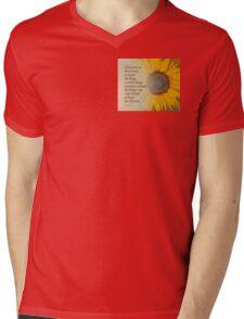 Serenity Prayer Sunflower Blend Mens V-Neck T-Shirt