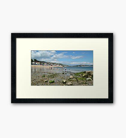 Low Tide In Lyme Dorset UK Framed Print