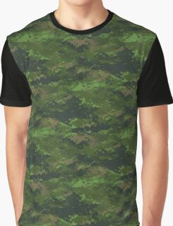 Classic Green Digital Camo Camouflage Graphic T-Shirt