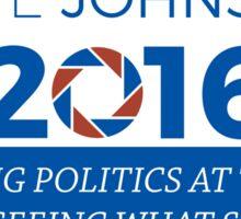 Cave Johnson For President Sticker