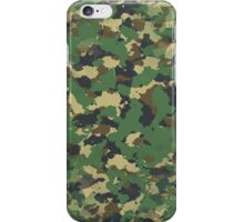 Classic Green Brown Army Camo Camouflage V2 iPhone Case/Skin