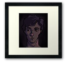 Half Smile Framed Print