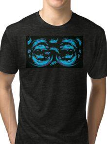Blue Ghosts (Image and Poem) Tri-blend T-Shirt