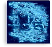 Electric Blue (Woman's Head) Canvas Print