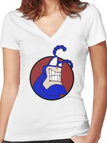 The Tick Women's Fitted V-Neck T-Shirt