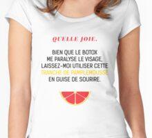 Une tranche de pamplemousse en guise de sourire Women's Fitted Scoop T-Shirt