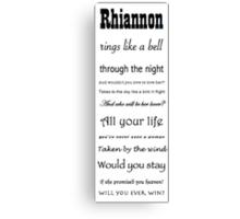 Rhiannon Fleetwood Mac Canvas Print
