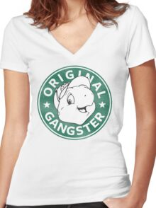Franklin The Turtle - Starbucks Design Women's Fitted V-Neck T-Shirt