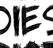 If Daryl dies we riot - Black Edition Sticker