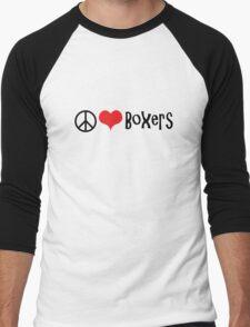 Peace, Love and Boxers Men's Baseball ¾ T-Shirt
