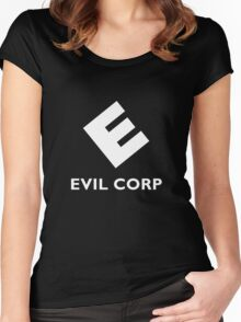 Mr. Robot Evil Corp Logo Women's Fitted Scoop T-Shirt