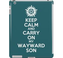 Keep Calm My Wayward Son (teal) iPad Case/Skin