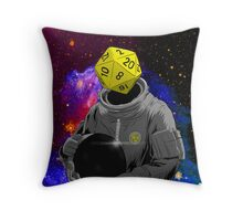d20 Astronaut Throw Pillow