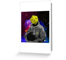 d20 Astronaut Greeting Card