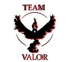 Team Valor (Black/Red) Photographic Print