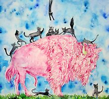 PINK BISON and BLACK CATS by lautir