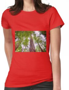 Redwood Forest Womens Fitted T-Shirt