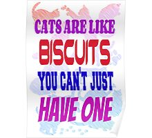 Cats are like biscuits Poster