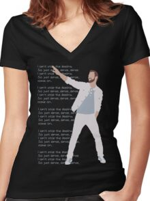 Justin T Women's Fitted V-Neck T-Shirt