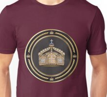 State Crown of the German Empire over Red Velvet Unisex T-Shirt
