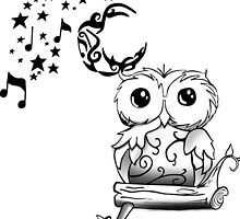 Intricate Owl at Musical Midnight by lolidk