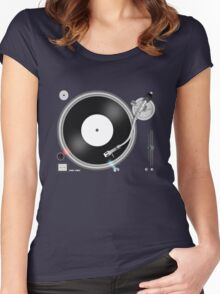 TURNTABLE Women's Fitted Scoop T-Shirt