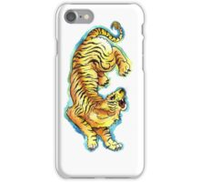 Traditional Tiger Tattoo watercolor painting iPhone Case/Skin