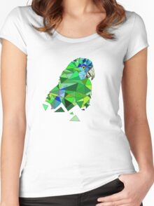 Exotic Tropical Parrot Women's Fitted Scoop T-Shirt