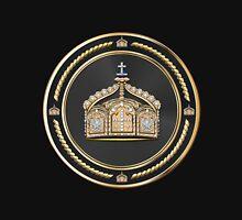 State Crown of the German Empire over Black Velvet Unisex T-Shirt