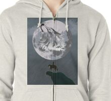 Wolf Link and Link Twilight Princess Zipped Hoodie