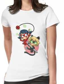 Ladybug and Chat Noir! Womens Fitted T-Shirt