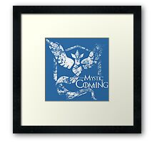 Team Mystic is Coming (GoT + PokeGO!) [Alt] Framed Print
