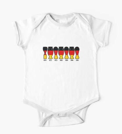 Germany World Cup and European Championship Trophy Cabinet One Piece - Short Sleeve