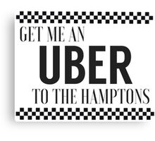 Uber - to the hamptons Canvas Print