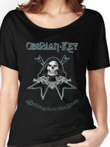 Obsidian Key - Falling Into The Dark - Skull, Guitars Women's Relaxed Fit T-Shirt