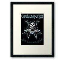 Obsidian Key - Falling Into The Dark - Skull, Guitars Framed Print