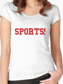 Sports - version 5 - red Women's Fitted Scoop T-Shirt