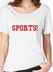Sports - version 5 - red Women's Relaxed Fit T-Shirt