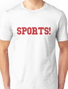 Sports - version 5 - red Unisex T-Shirt