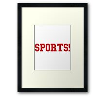 Sports - version 5 - red Framed Print