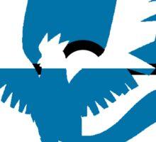Blue Ice Bird Sticker