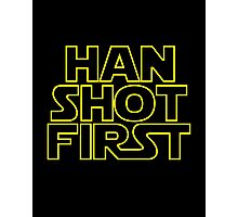 Han Shot First. Photographic Print